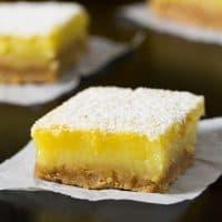 Coconut Oil Meyer Lemon Bars | tasteslovely.com