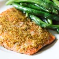 Maple Mustard Glazed Salmon {3 Ingredients!}