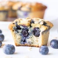 Paleo Blueberry Muffins (Gluten Free, Dairy Free)