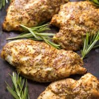 Paleo Rosemary Honey Mustard Chicken