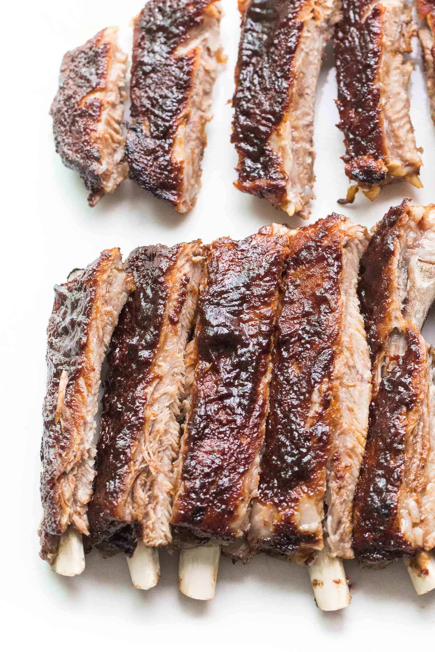 Ribs on a white background
