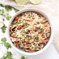 Paleo + Whole30 Thai Almond Butter Coleslaw