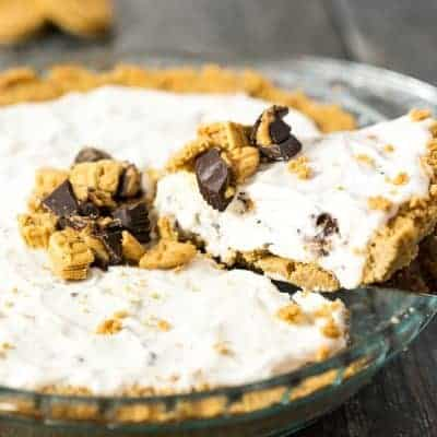 Peanut Butter Lovers Ice Cream Pie | tasteslovely.com