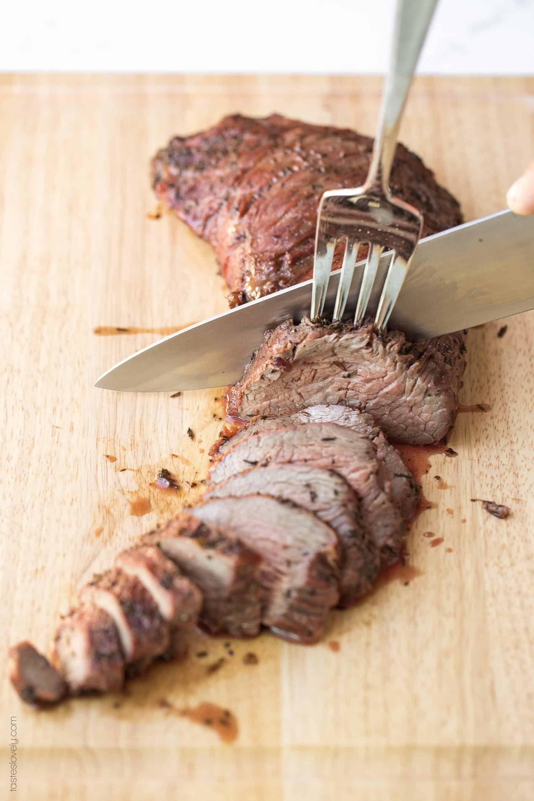 The BEST Paleo Tri Tip Steak Marinade Recipe - just 4 ingredients! Bright, flavorful and delicious. #paleo #glutenfree #grainfree #dairyfree #refinedsugarfree #cleaneating #realfood