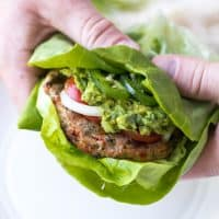 Paleo + Whole30 Mexican Turkey Burgers