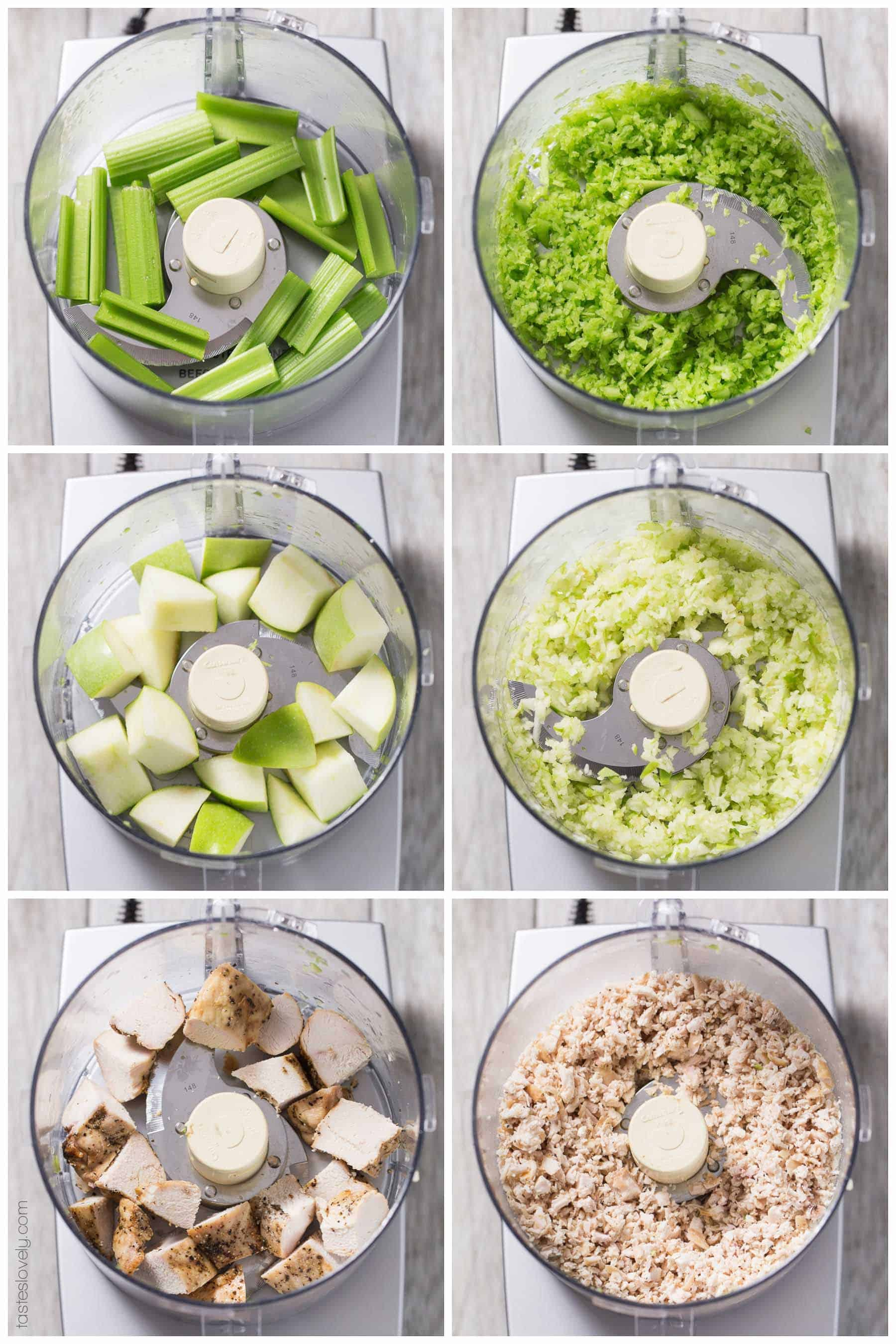 Green Apple & Cranberry Chicken Salad - a healthy make ahead lunch! Whole30, paleo, gluten free, dairy free, sugar free.