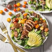 Grilled BBQ Chicken BLT Salad (Whole30, Paleo)