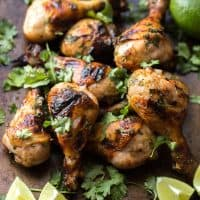 Paleo Cilantro Honey Lime Chicken Drumsticks