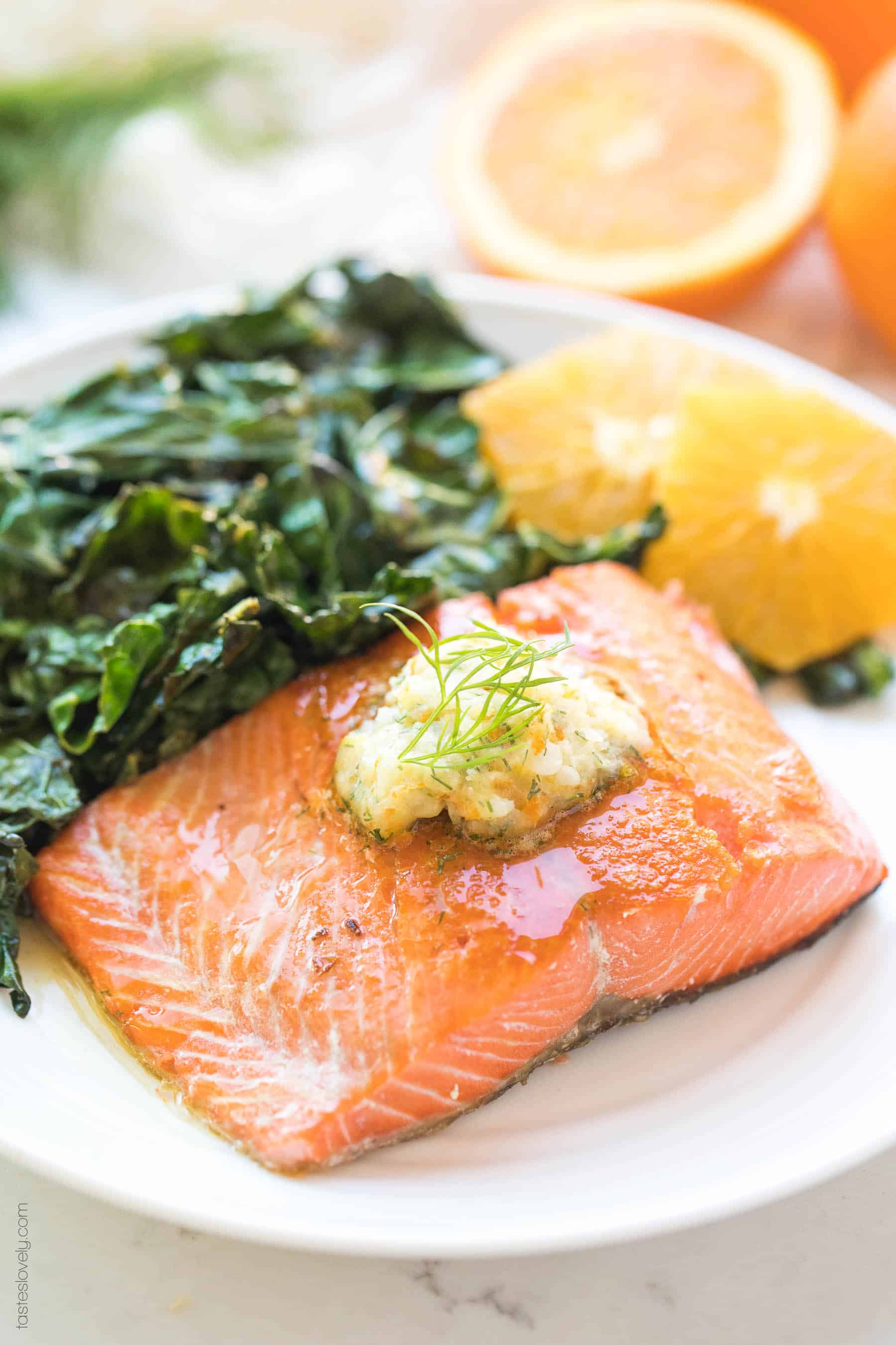 Salmon With Orange Dill Butter Whole30 Paleo Keto Tastes Lovely