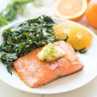 Salmon with Orange Dill Butter (Whole30, Paleo, Keto)
