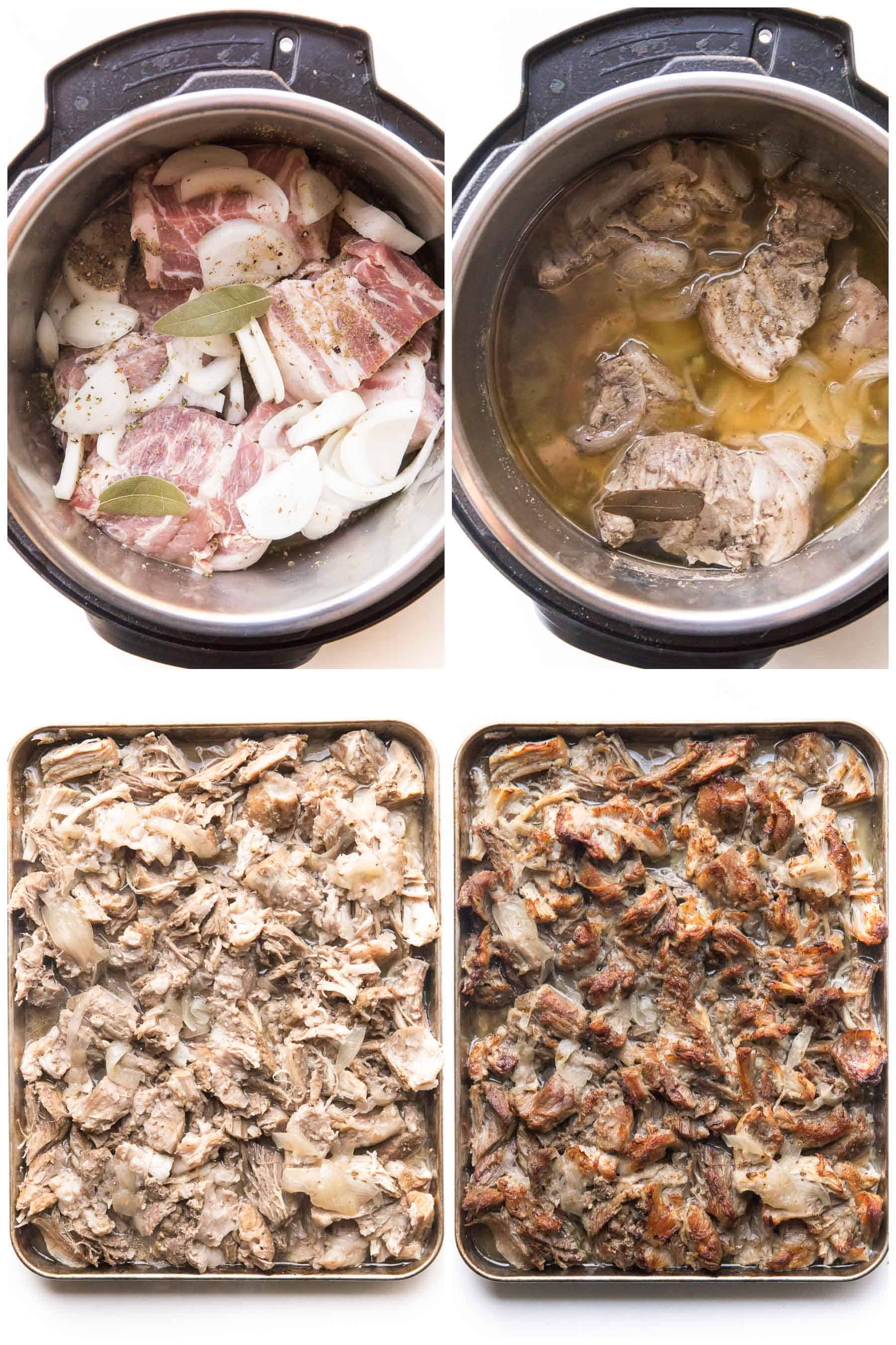 steps to making carnitas in an instant pot