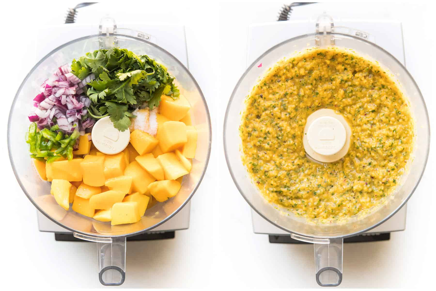 steps to making mango salsa in a food processor