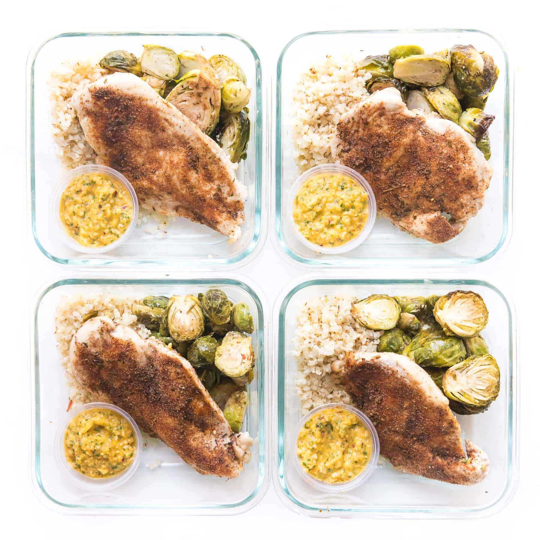 jamaican jerk chicken in meal prep containers