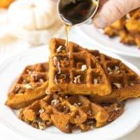 Crispy Paleo Pumpkin Waffles (Gluten Free, Dairy Free)