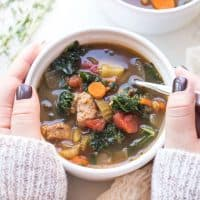 Italian Sausage and Kale Vegetable Soup (Paleo, Whole30, Keto)