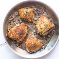 Creamy Mushroom Chicken Thighs (Paleo, Whole30, Keto)