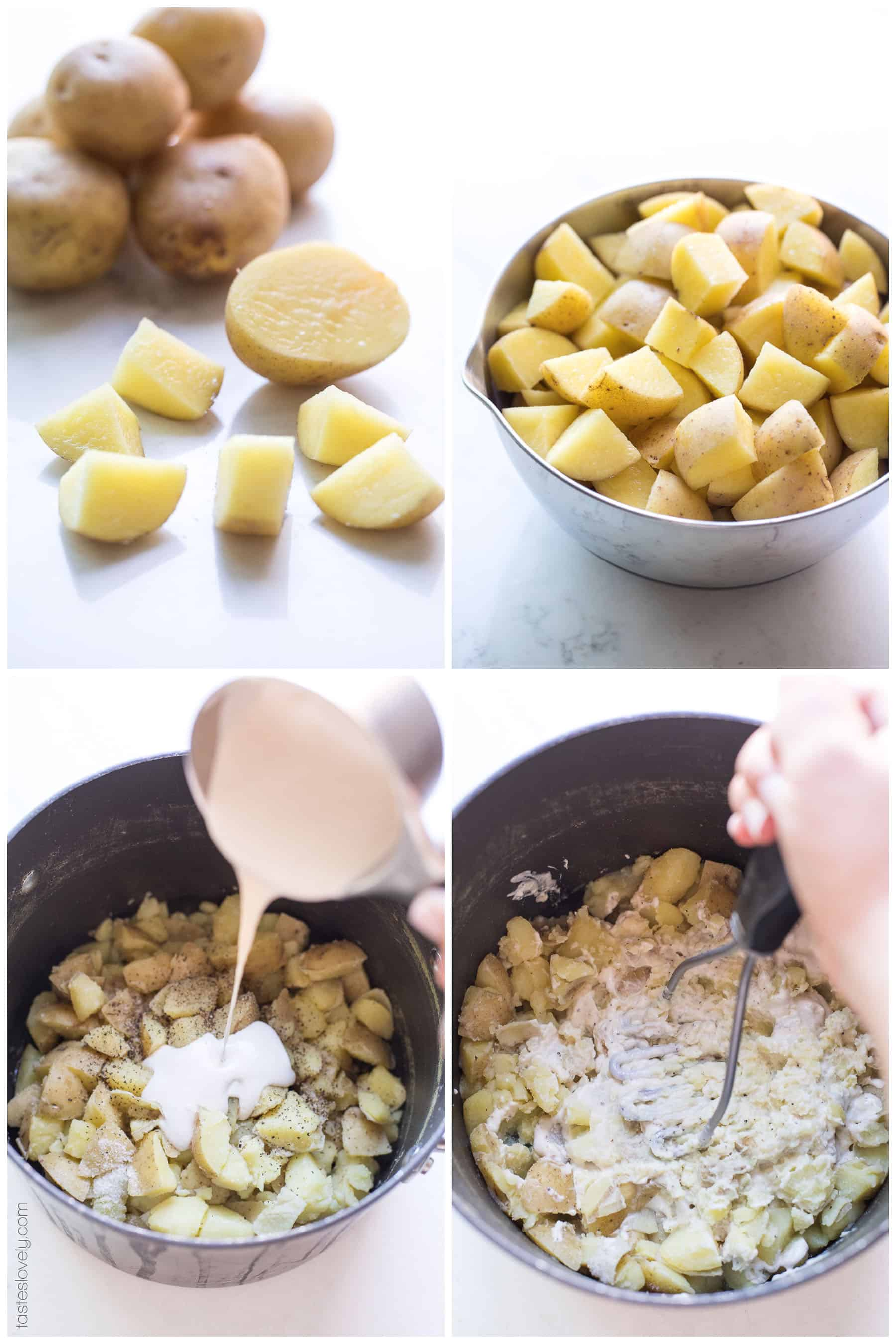 steps of making mashed potatoes