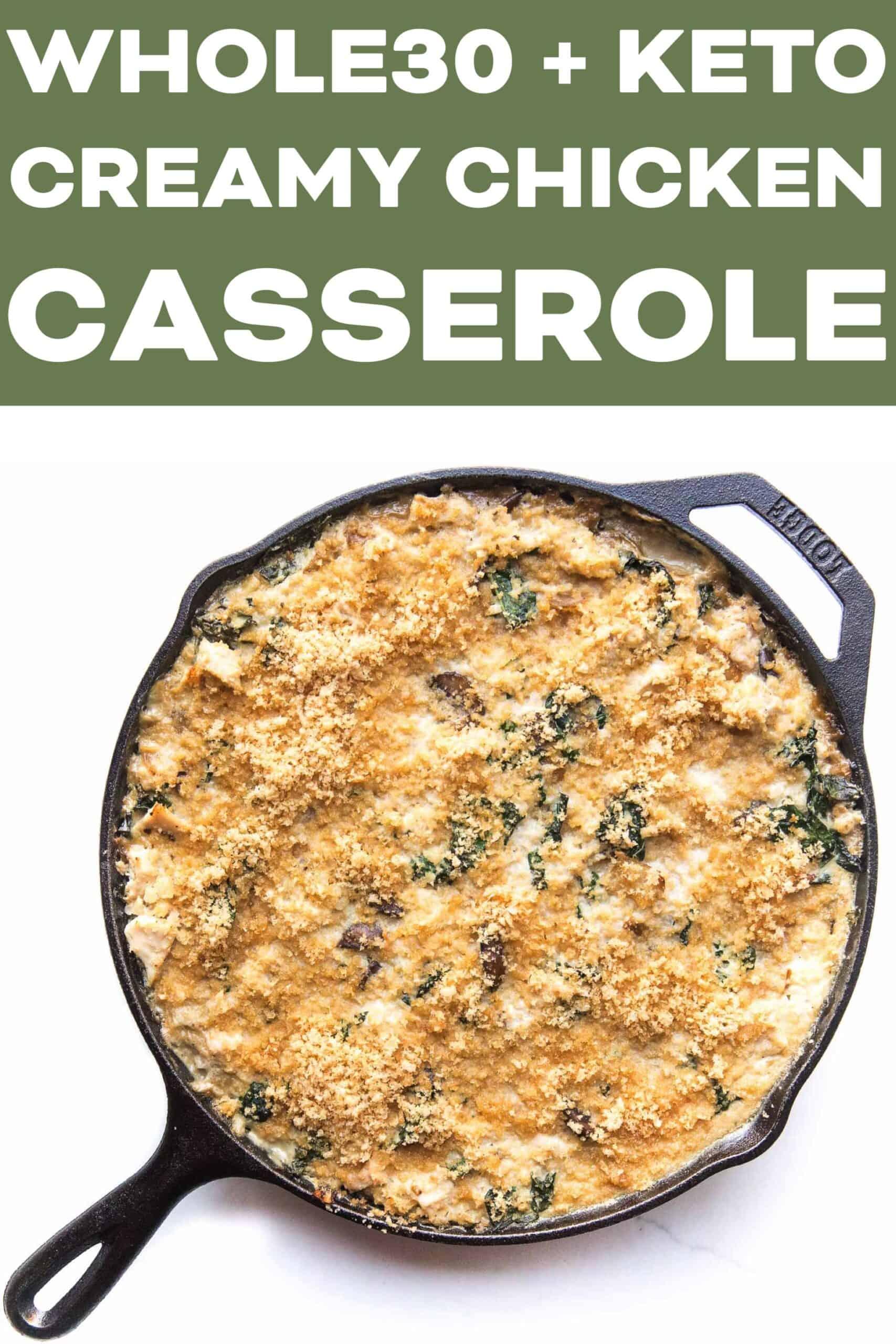 Whole30 Keto Creamy Chicken Cauliflower Rice Casserole