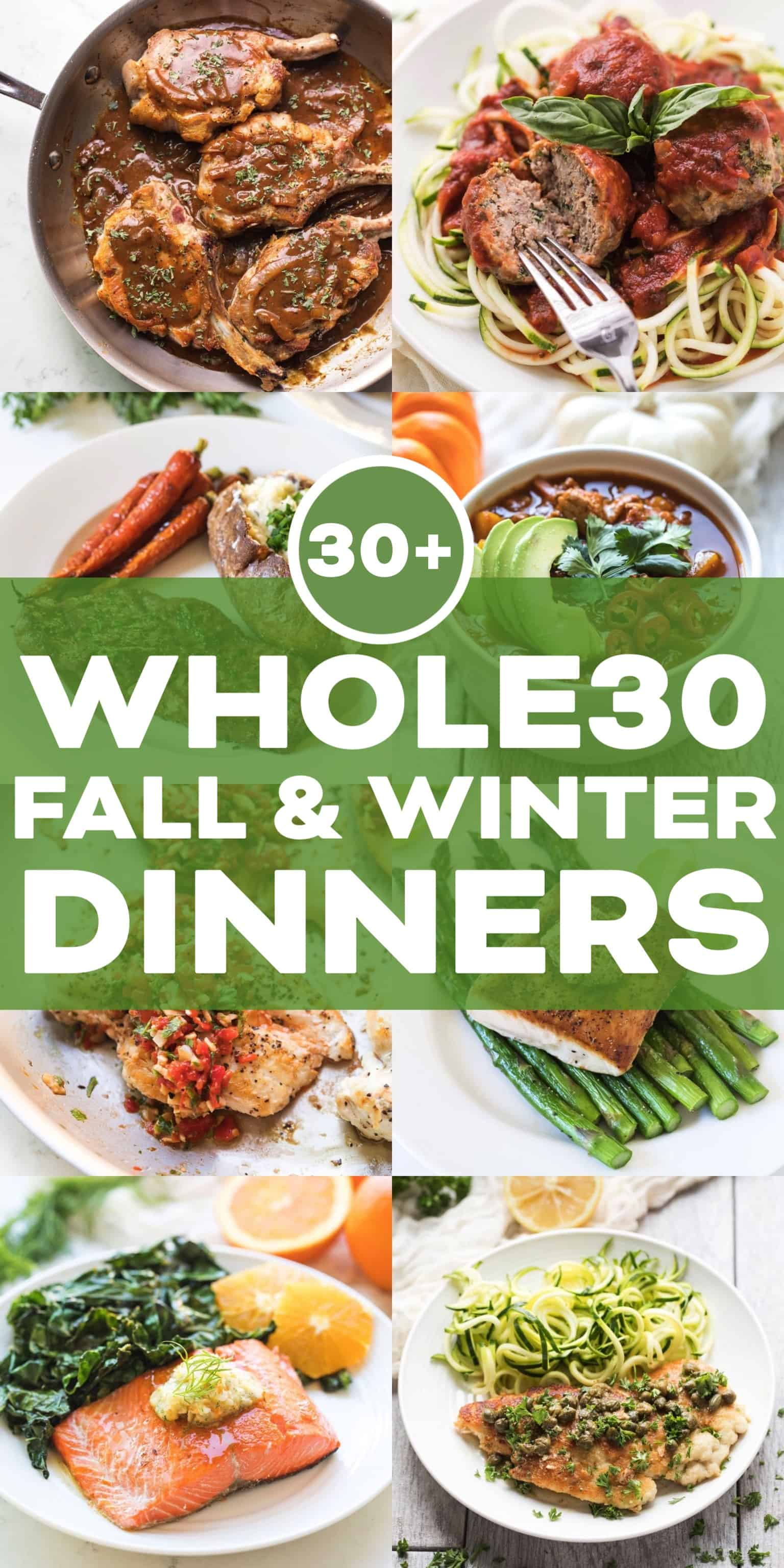 Whole30 dinner collage