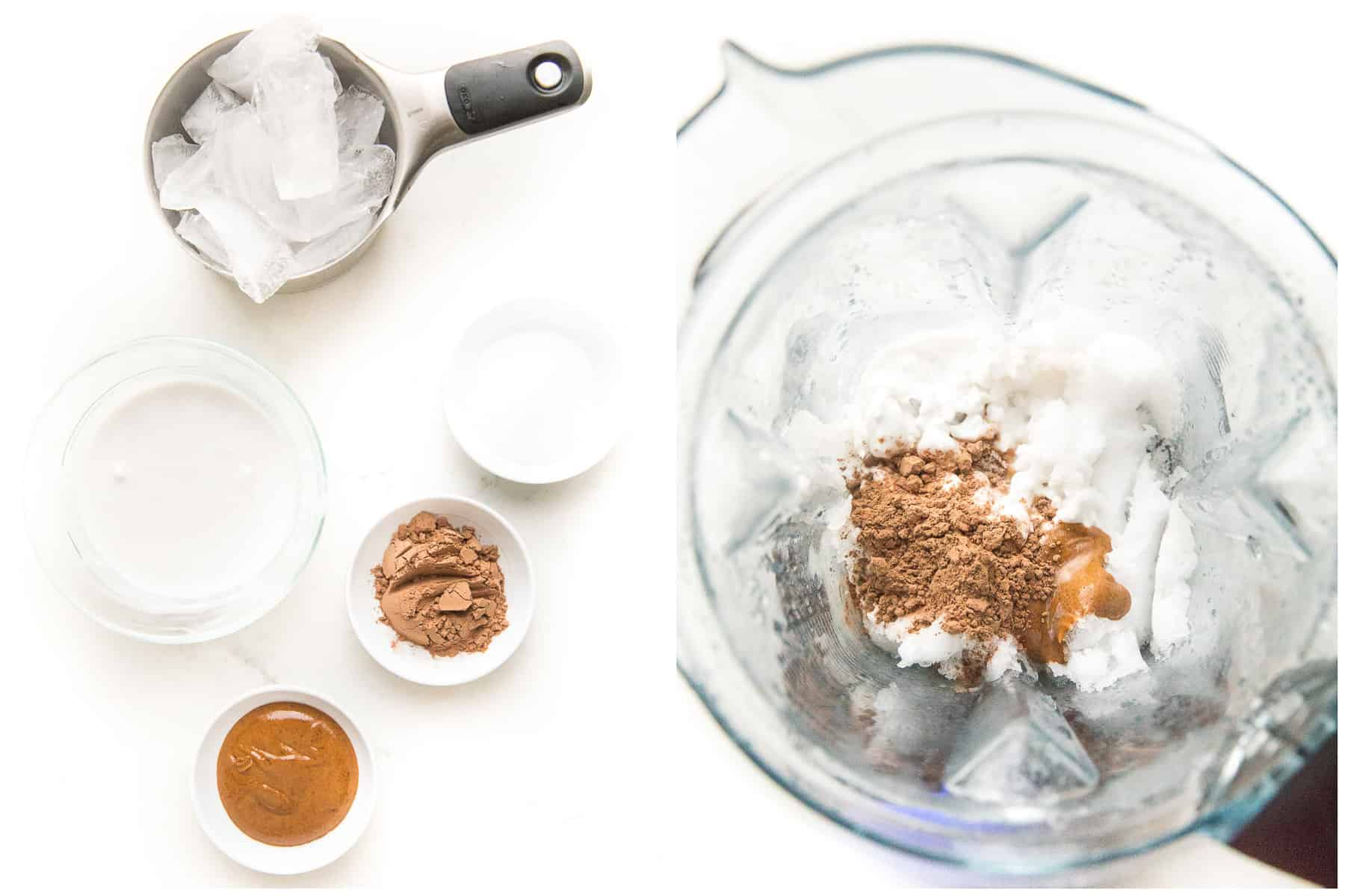 ingredients for chocolate frosty