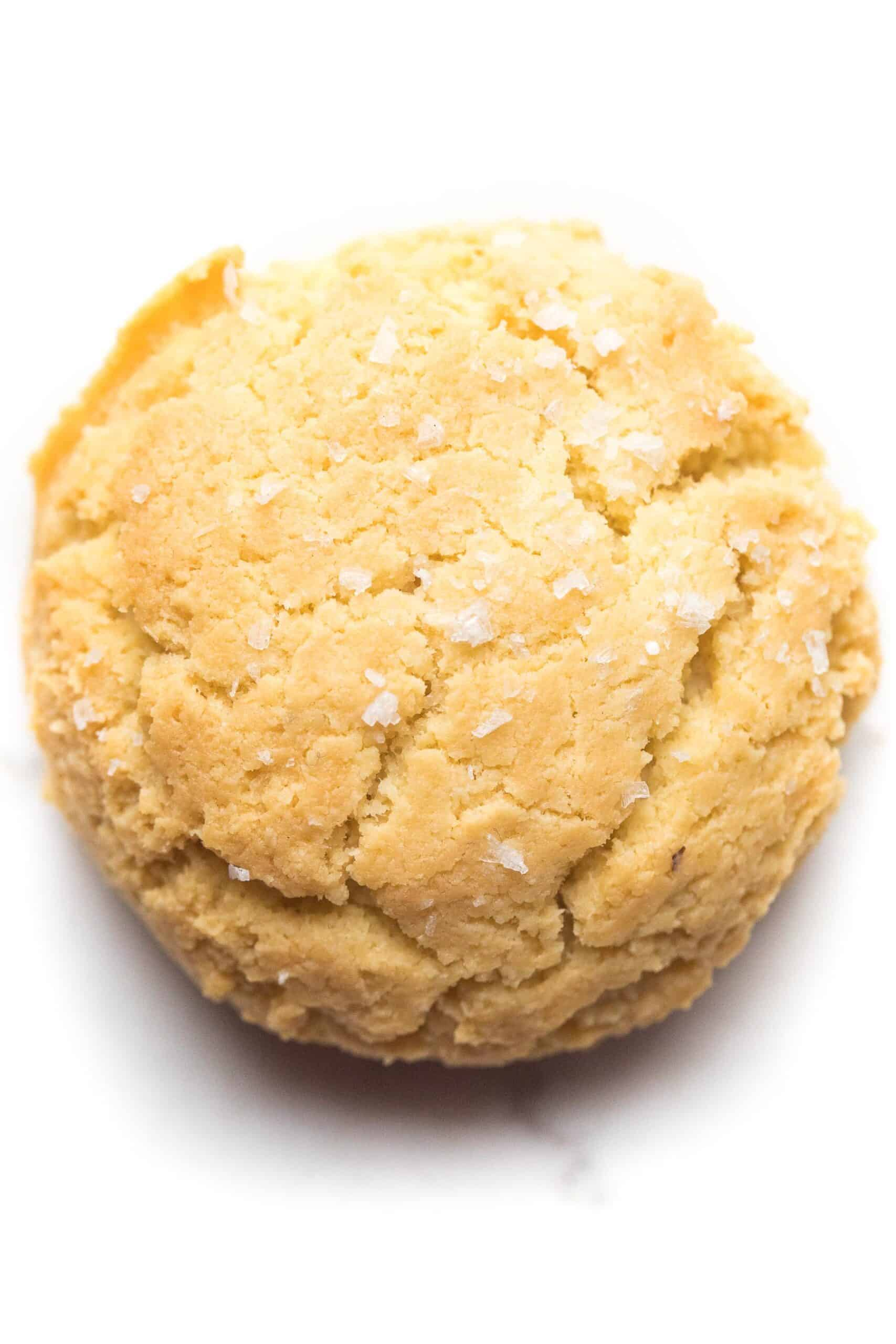 keto biscuit on a white background