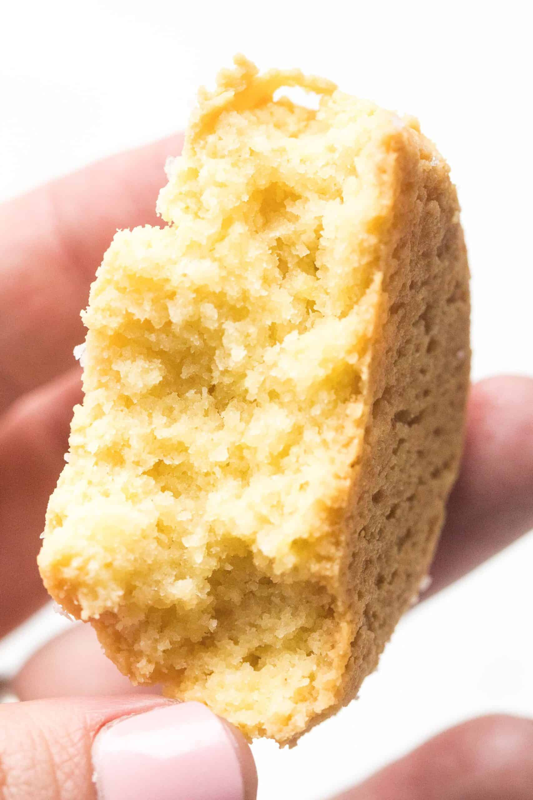 inside of a keto biscuit