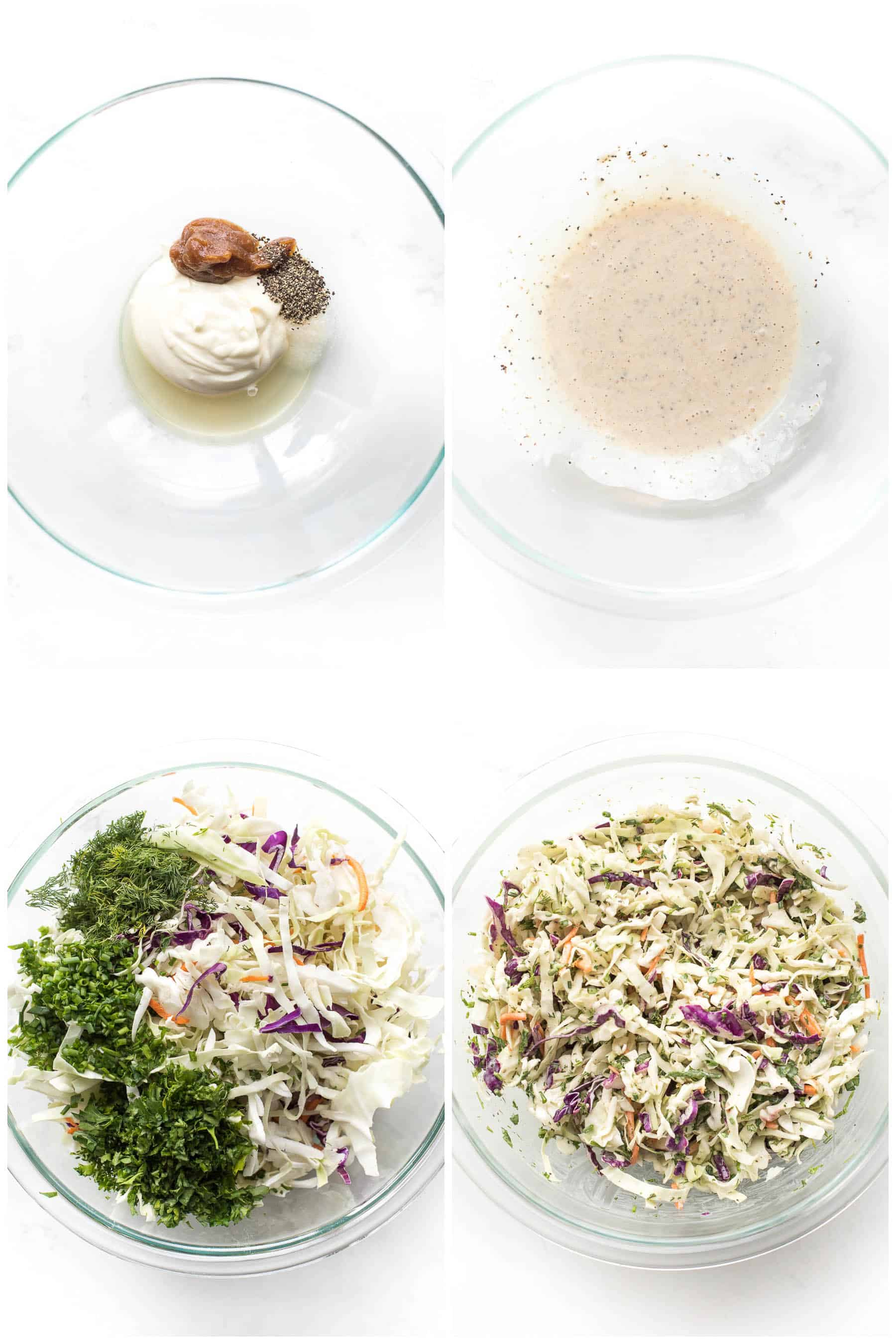 steps to making coleslaw