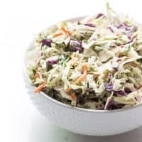 Paleo + Whole30 Herby Lemon Coleslaw