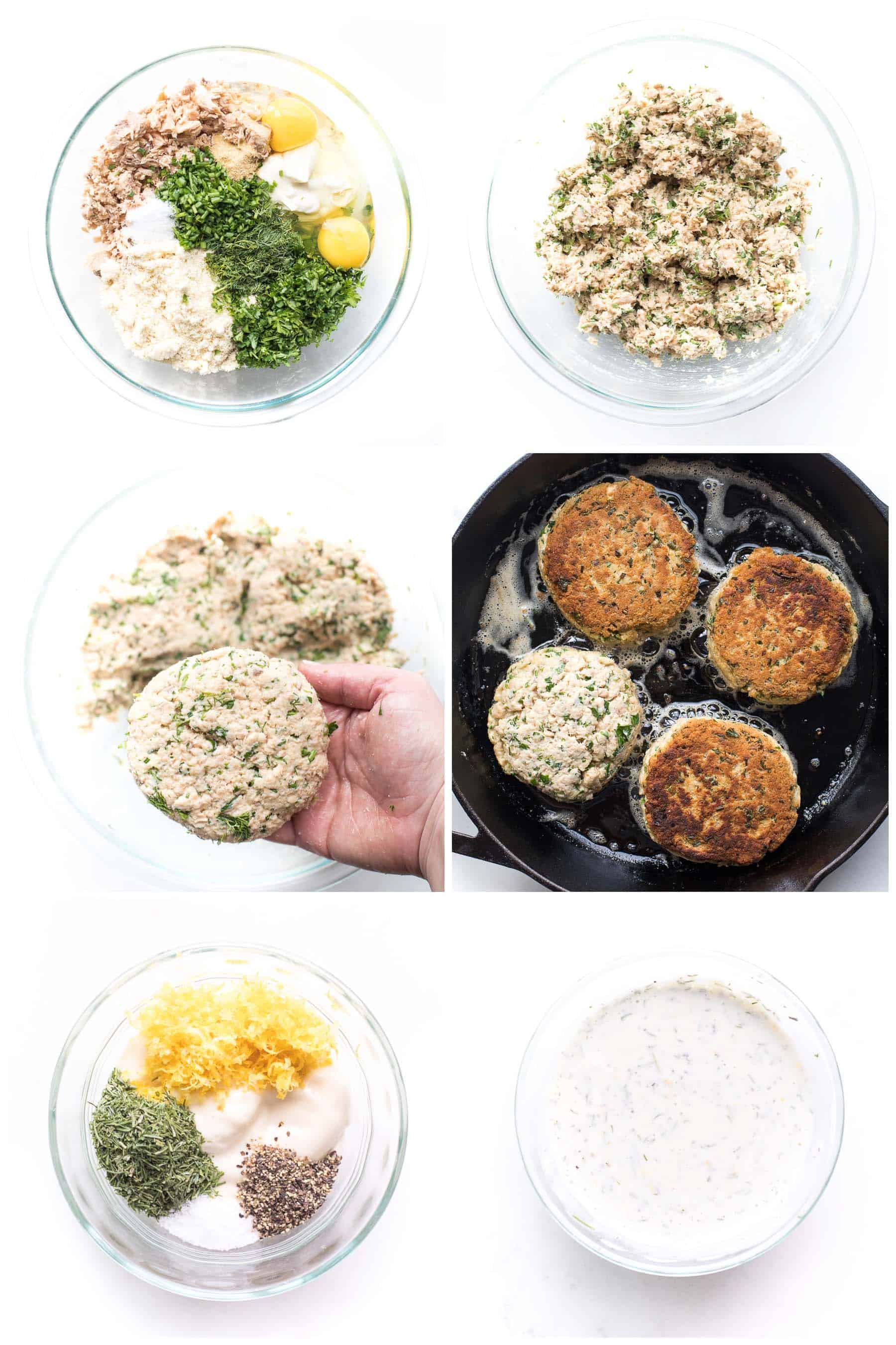 Steps to cooking salmon cakes
